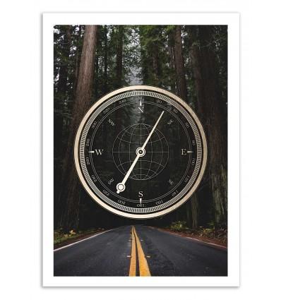 Art-Poster 50 x 70 cm - Compass - Cascadia