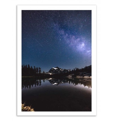 Art-Poster 50 x 70 cm - Mountain night - Cascadia