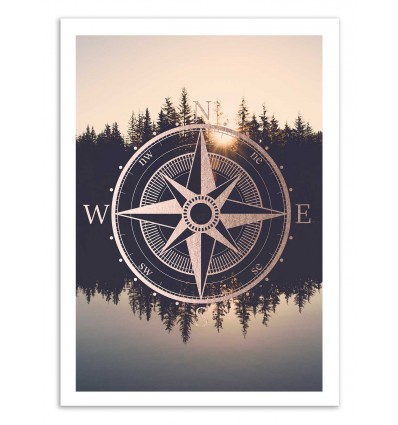 Art-Poster 50 x 70 cm - North star - Cascadia