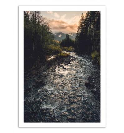 Art-Poster 50 x 70 cm - Wild river - Cascadia