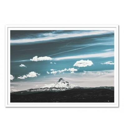 Art-Poster 50 x 70 cm - Mount meet sky - Cascadia