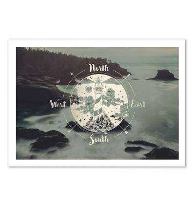Art-Poster 50 x 70 cm - Headlight - Cascadia