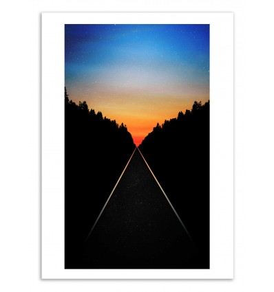 Art-Poster 50 x 70 cm - Keep walking don't stop - Cascadia