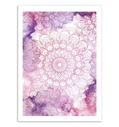 Art-Poster 50 x 70 cm - Mandala watercolor - Cascadia