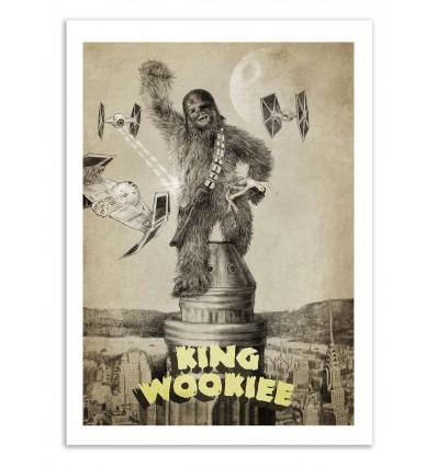 Art-Poster 50 x 70 cm - King Wookie - Eric Fan