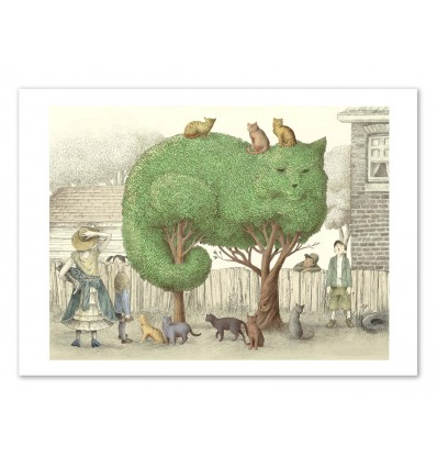 Art-Poster 50 x 70 cm -The tree cat - Eric Fan