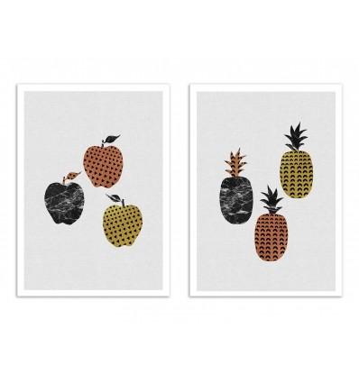2 Art-Posters 30 x 40 cm - Duo Scandi Fruits - Orara Studio