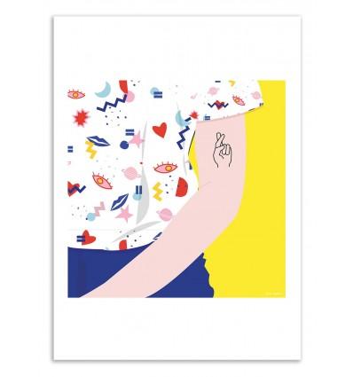 Art-Poster - Crossed Fingers - Céleste Wallaert