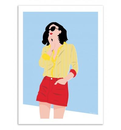 Art-Poster - Stripes - Céleste Wallaert