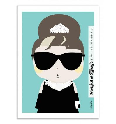 Art-Poster - Audrey Hepburn - Ninasilla