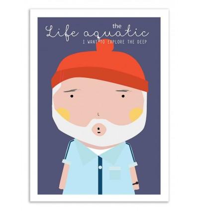 Art-Poster - The life aquatic - Ninasilla