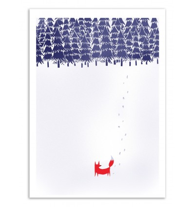Art-Poster 50 x 70 cm - Alone in the forest - Robert Farkas