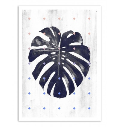 Art-Poster - Monstera dots - Leemo