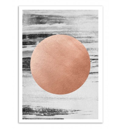 Art-Poster - Rose gold - Leemo