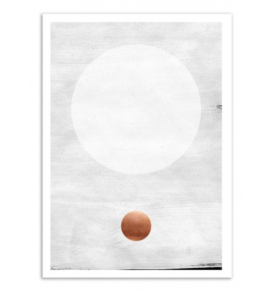 Art-Poster - White and copper - Leemo