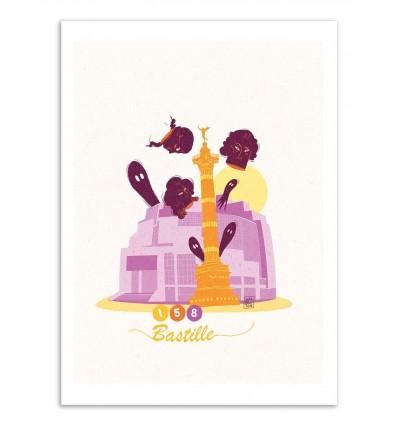 Art-Poster - Bastille - Julie Olivi