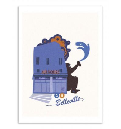 Art-Poster - Belleville - Julie Olivi