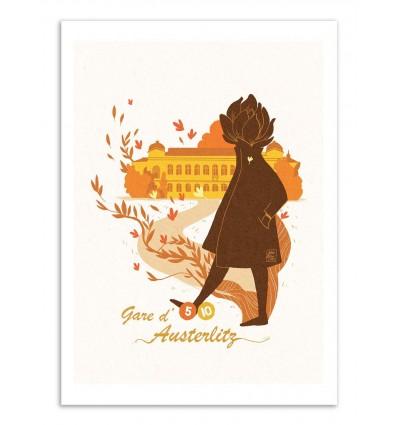 Art-Poster - Gare d'Austerlitz - Julie Olivi - Limited edition 50 ex.