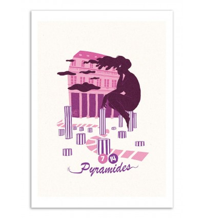Art-Poster - Pyramides - Julie Olivi - Limited edition 50 ex.