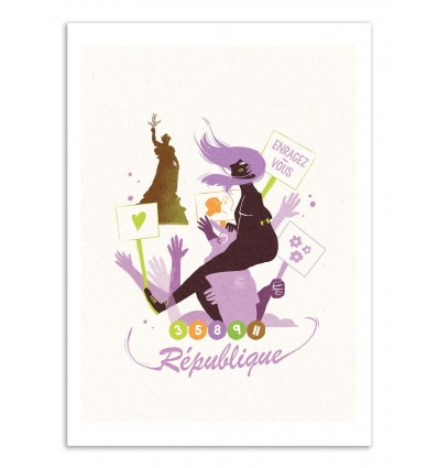 Art-Poster - République - Julie Olivi - Limited edition 50 ex.