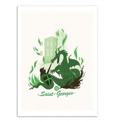 Art-Poster - Saint-Georges - Julie Olivi - Limited edition 50 ex.