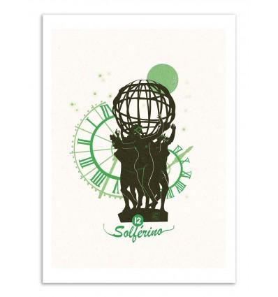Art-Poster - Solferino - Julie Olivi - Limited edition 50 ex.