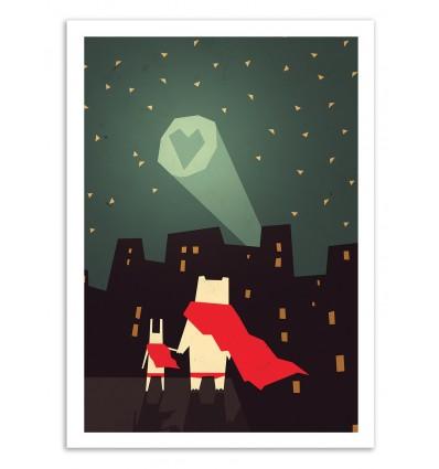 Art-Poster 50 x 70 cm - The city needs Love - Yetiland