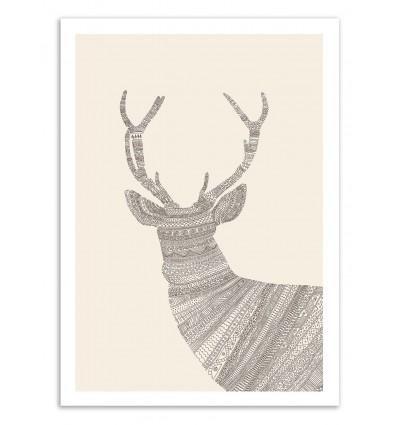 Art-Poster - Cerf - Florent Bodart
