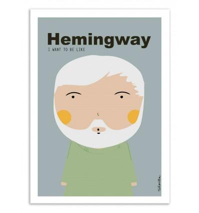 Art-Poster - Hemingway - Ninasilla