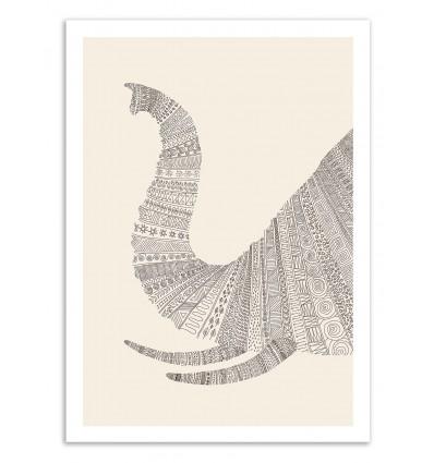 Art-Poster 50 x 70 cm - Elephant - Florent Bodart