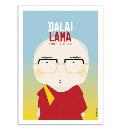 Art-Poster - Dalai Lama - Ninasilla