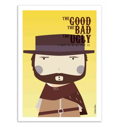 Art-Poster - The Good the bad and the Ugly - Ninasilla