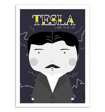 Art-Poster - Tesla - Ninasilla