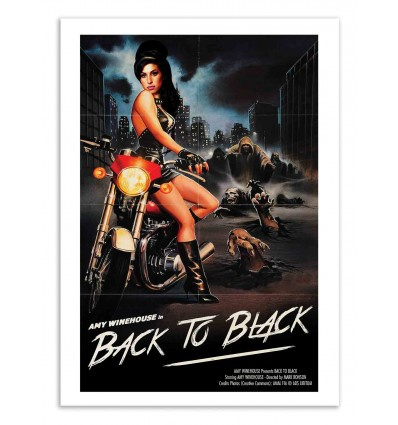 Art-Poster - Back to Black - David Redon