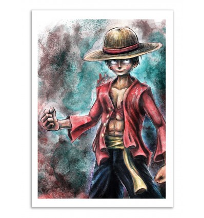 Art-Poster - Luffy - Barrett Biggers