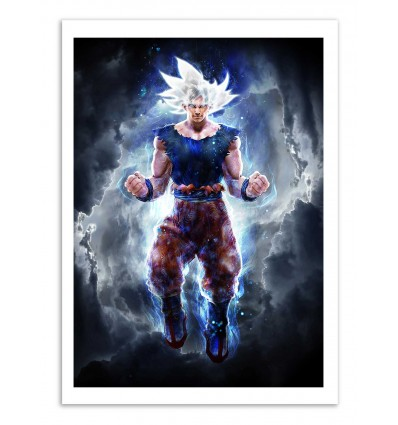 Art-Poster - Ultra Instinct Goku - Barrett Biggers
