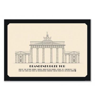 Art-Poster - Brandenburger Tor - Lionel Darian