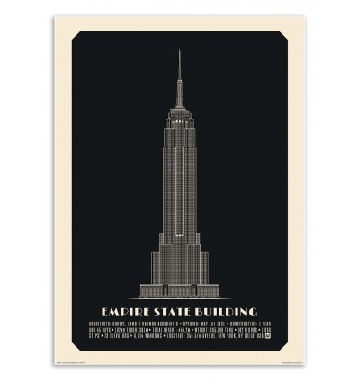 Art-Poster - Empire State Building Negative - Lionel Darian