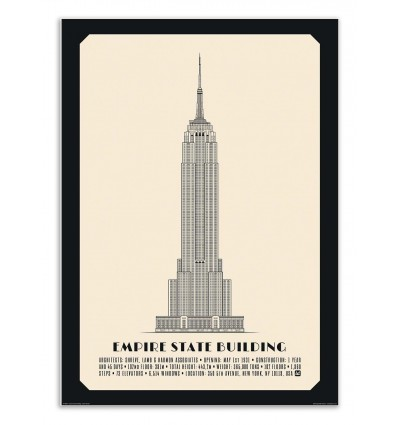 Art-Poster - Empire State Building - Lionel Darian