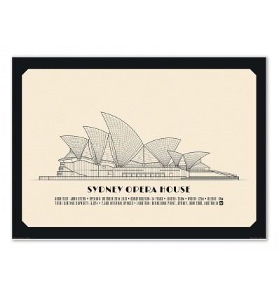 Art-Poster - Sydney Opera House - Lionel Darian