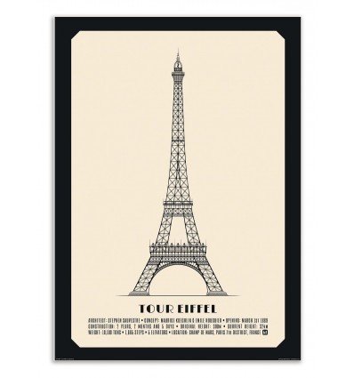 Art-Poster - Tour Eiffel - Lionel Darian