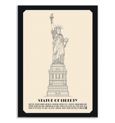 Art-Poster - Statue of liberty - Lionel Darian