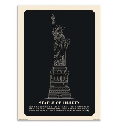 Art-Poster - Statue of liberty negative - Lionel Darian