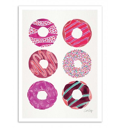 Art-Poster - Magenta Donuts - Cat Coquillette