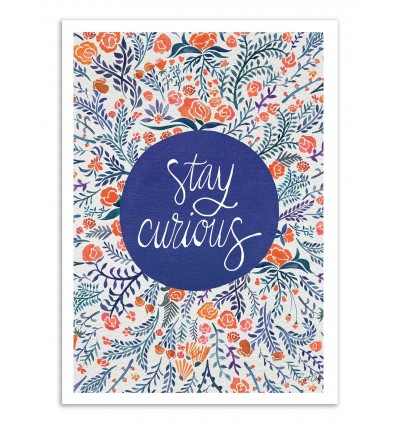 Art-Poster - Stay Curious - Cat Coquillette