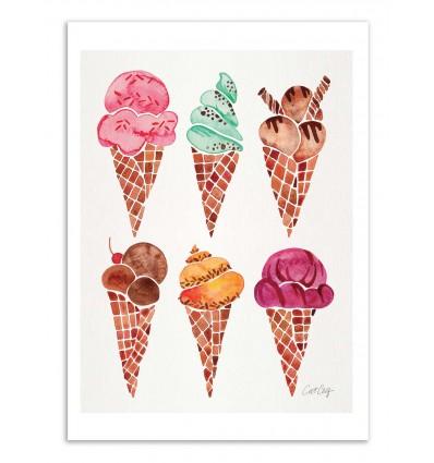 Art-Poster - Ice cream cones - Cat Coquillette