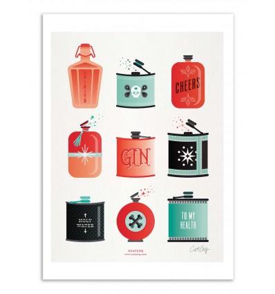 Art-Poster - Flasks - Cat Coquillette