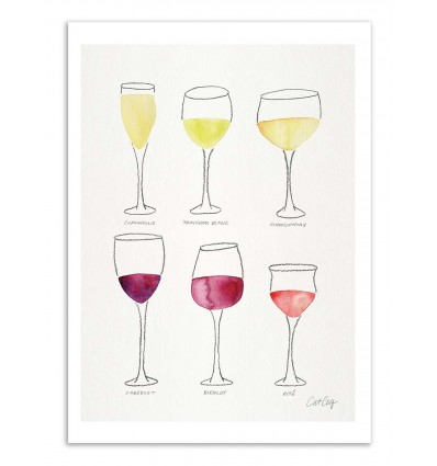 Art-Poster - Wine collection - Cat Coquillette