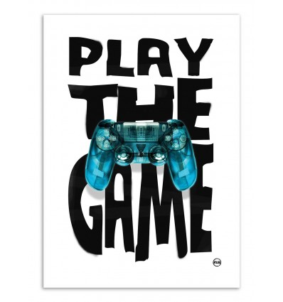 Art-Poster - Play the game - Rubiant