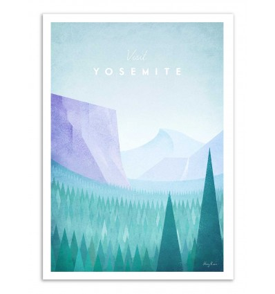 Art-Poster - Visit Yosemite - Henry Rivers